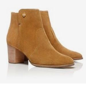 Tory Burch Caramel Suede Sabe Bootie